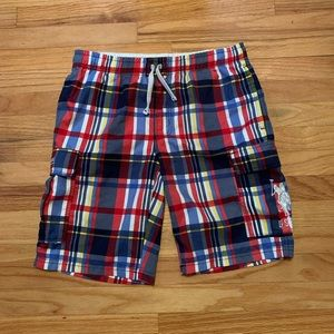 US POLO ASSN Swim Trunks Shorts Sm Bathing Suit